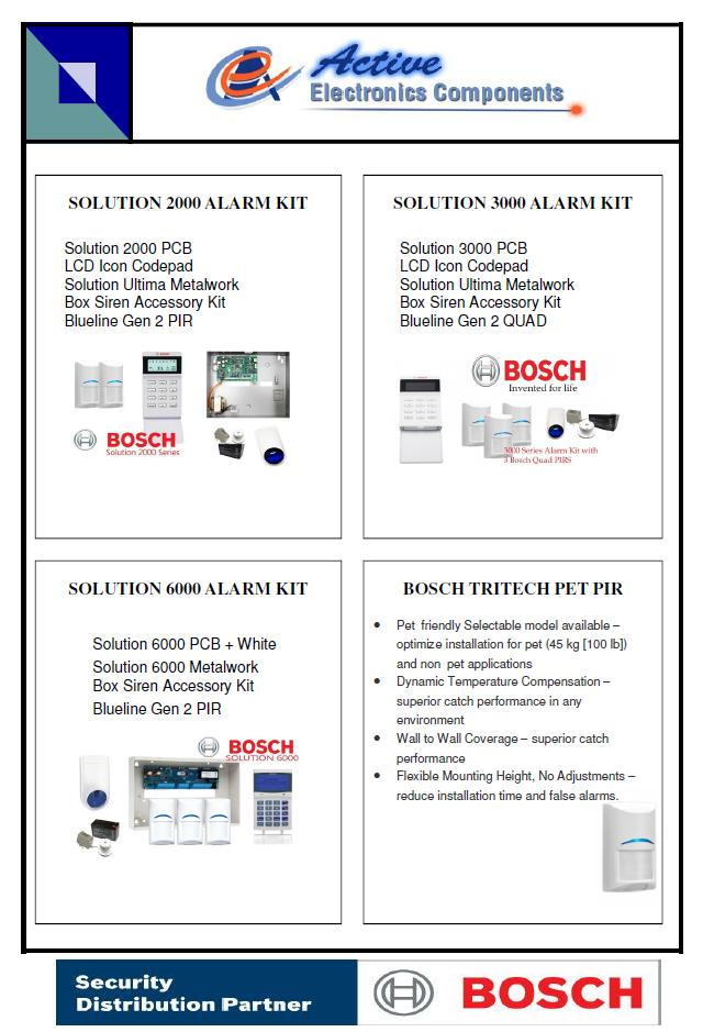 Active Electronics Bosch Alarm Panels